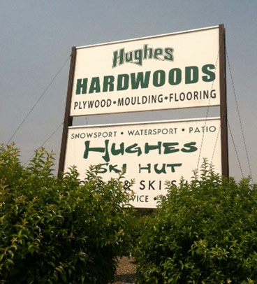 Hughes Hardwood Sign